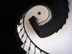 Fajardo Lighthouse interior staircase